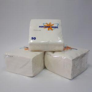 Салфетки бумажные «Мягкий знак» 24*24 50 листов